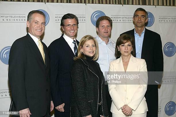 Back row L to R Jack Abernethy CEO Fox Television Stations INC Kevin Reilly Presidnet NBC Entertainment Stephen McPherson President ABC Entertainment...