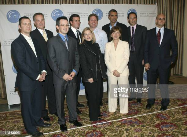 Back row L to R Jordan Levin Partner Generate Jack Abernethy CEO Fox Television Stations INC Kevin Reilly Presidnet NBC Entertainment Stephen...