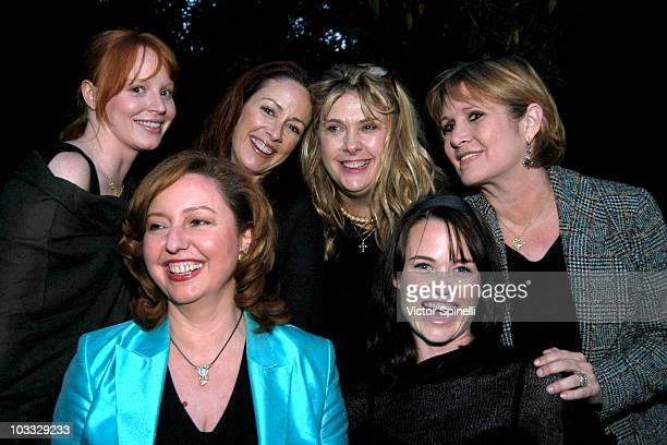 Lauren Ambrose Patricia Heaton Colleen Camp and Carrie Fisher Front Row Agapi Stassinopolis and Sprague Grayden