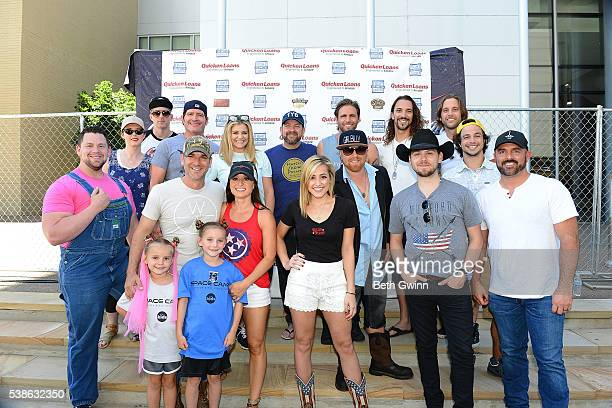 Back row left to right Keifer Thompson, Jerrod Niemann, Kristen Bush, Cannaan Smith, Brad Cummings, Jeff coplan, and Ian Munsick of BlackJack Billy,...