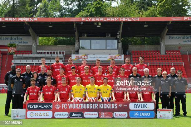 Onur Uenluecifci of Wuerzburger Kickers poses during the team presentation at flyeralarm Arena on July 20 2018 in Wuerzburg Germany