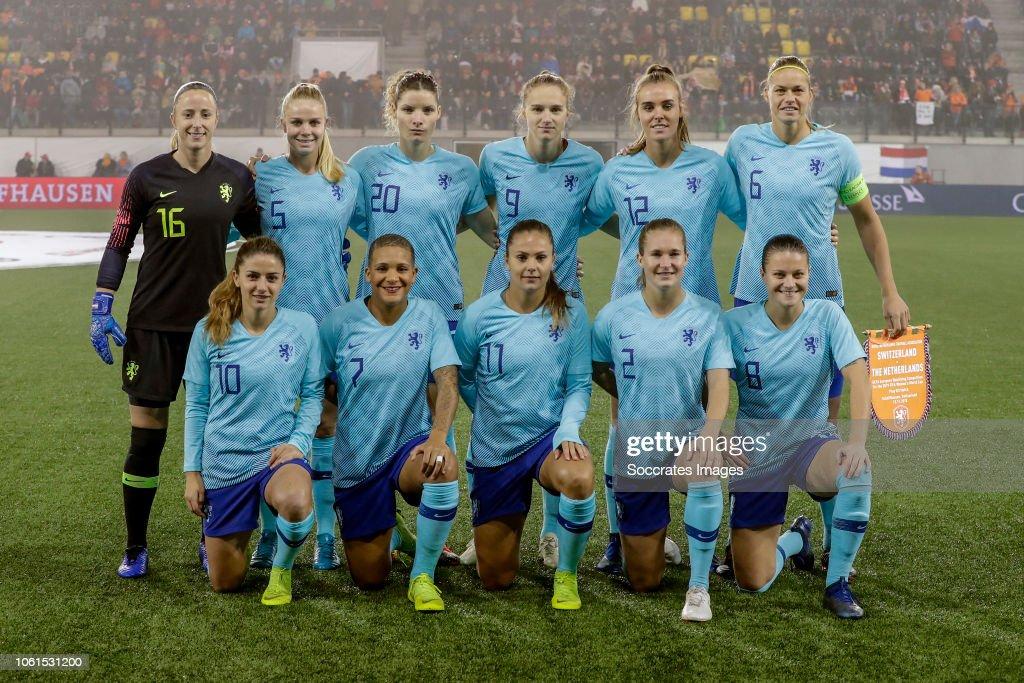 Switzerland  v Holland  -World Cup Qualifier Women : News Photo