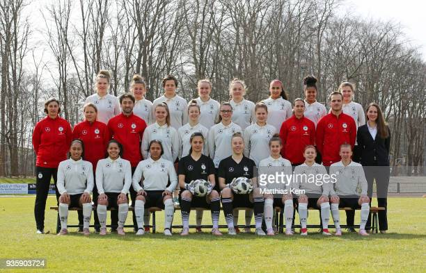 Back row LR Laura Haas Leonie Koester Nora Clausen Vanessa Zilligen Madeleine Steck Miray Cin Shekiera Martinez Pauline Berning second row LR head...