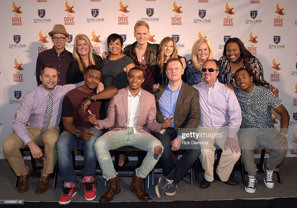 Recording Artists TobyMac, Natalie Grant, Executive Director GMA Jackie Patillo, Recording Artists Chris Rademaker and Jodi King of Love & the Outcome, Karen Peck, Tasha Cobbs. Front row