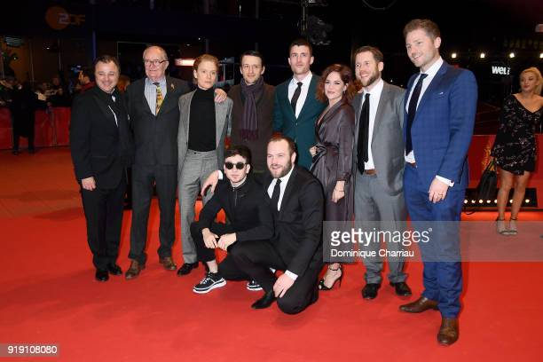 Back row LR Tim O'Hair Jim Broadbent Freddie Fox Lance Daly James Frecheville Sarah Greene Macdara Kelleher Jonathan Loughran and Barry Keoghan and...