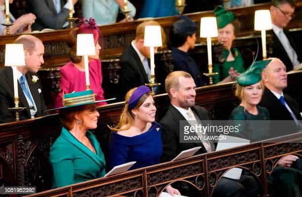 Britain's Prince William Duke of Cambridge Britain's Catherine Duchess of Cambridge Britain's Prince Harry Duke of Sussex Meghan Duchess of Sussex...