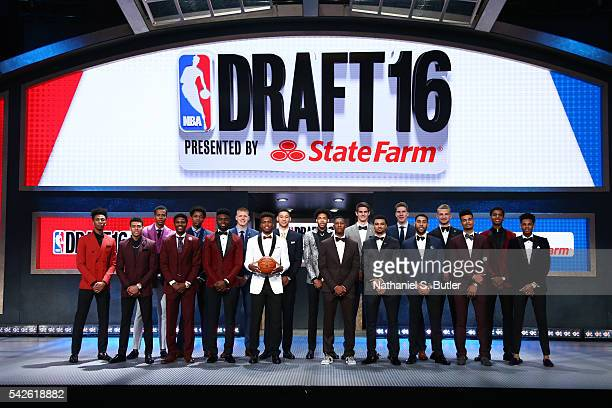 Back Row Malachi Richardson,Skal Labissiere,Deyonta Davis, Henry Ellerson, Ben Simmons,Brandon Ingram, Dragan Bender, Jacob Poeltl, Marquese Chriss,...