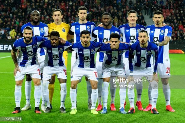 Back row Moussa Marega of FC Porto goalkeeper Agustin Marchesin of FC Porto Ivan Marcano of FC Porto Chancel Mbemba of FC Porto Mateus Uribe of FC...