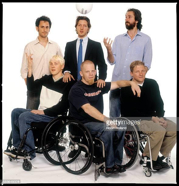 Producer Jeff Mandel and directors Henry Alex Rubin and Dana Adam Shapiro Front row Andy Cohn Mark Zupan and Scott Hogsett all members of the US Quad...