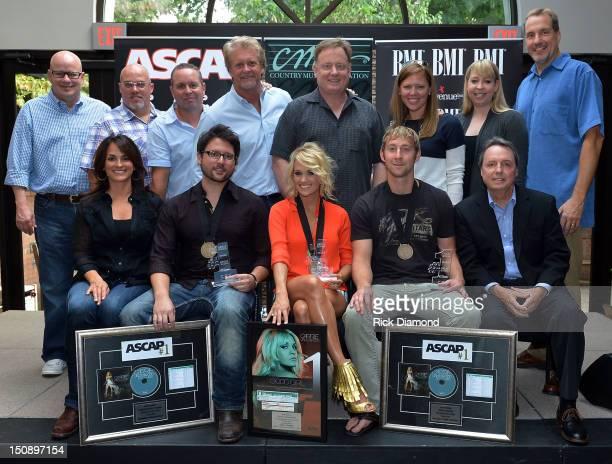 back row producer Mark Bright ASCAP's Marc Driskill Warner/Chappell Music Publishing's Steve Markland Combustion Music's Chris Farren Sony Music...