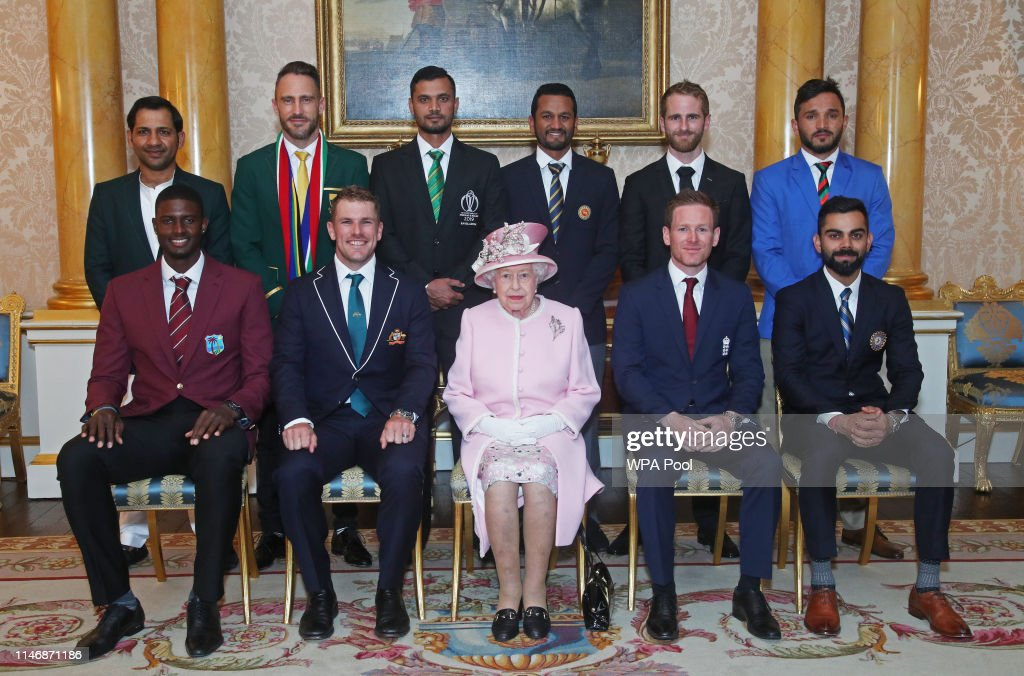 ICC Cricket World Cup Team Captains Meet Queen Elizabeth II At Buckingham Palace : News Photo