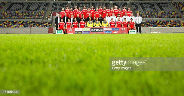 Back row Stefan Reisinger, Timo Furuholm, Mathis Bolly, Oliver Fink, Leon Balogun, Ihlas Bebou, Adam Bodzek, Axel Bellinghausen; 3rd row Dani...