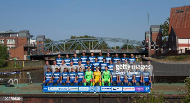 Physiotherapist Kai Venemann of SV Meppen pose for a photo during a team presentation on July 20 2018 in Rostock Germany