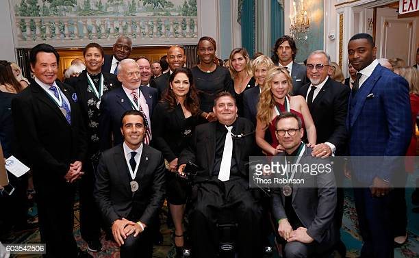 Back Row Wayne Newton Cheryl Miller Willis Reed Buzz Aldrin James L Nederlander Gloria Estefan Mariano Rivera Venus Williams Delfina Blaquier Diana...