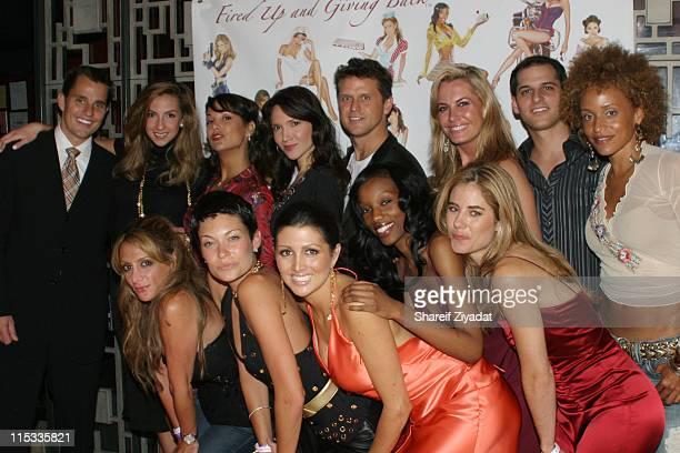 Bill Rancic Katrina Campins Jennifer Crisafulli Robin Himmler Kelly Perdew Kristen Kirchner Chris Russo and Stacie J Front Row Heidi Bressler Maria...