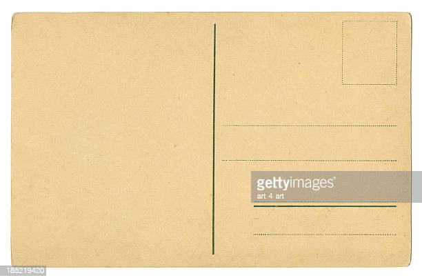 back side of an old blank postcard xxxl size - postcard stock pictures, royalty-free photos & images