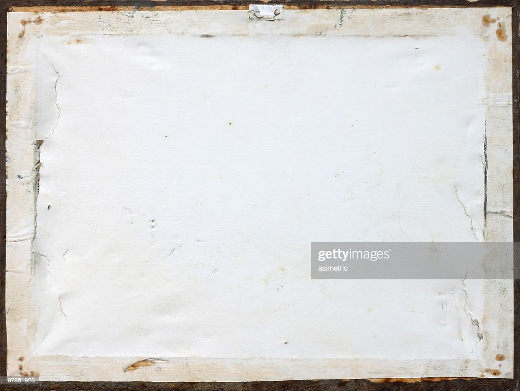 Back side of an old picture frame : Stock Photo