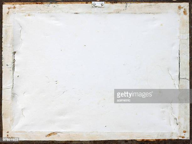 Back side of an old picture frame