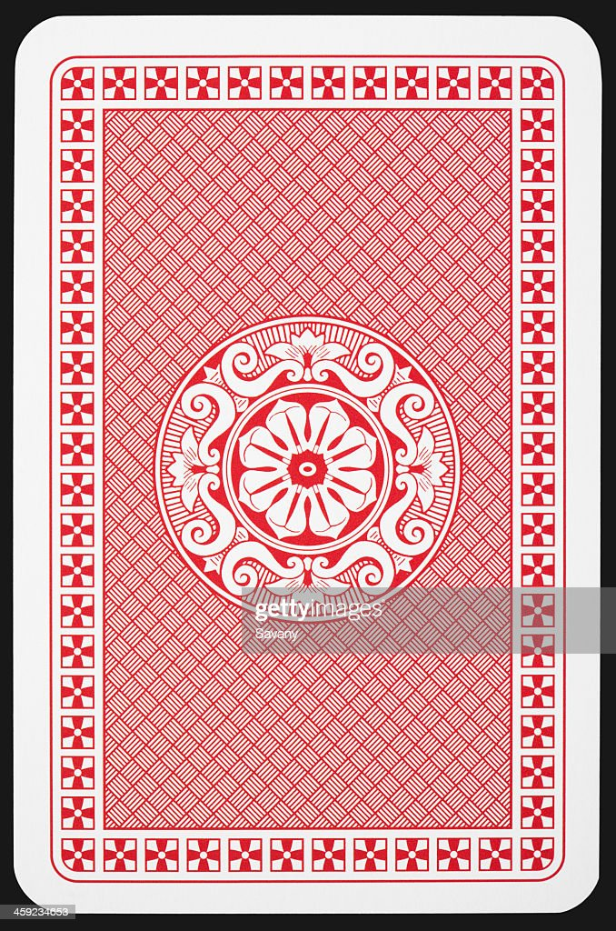 Back side of playing card : Stock Photo
