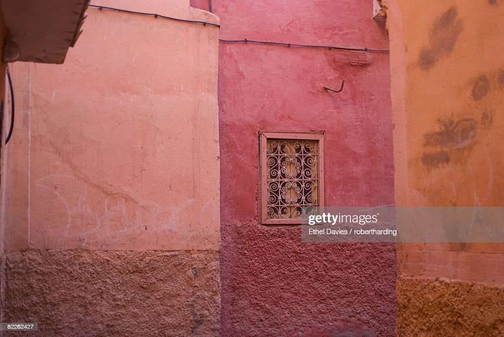 Back streets of Marrakech, Morocco, North Africa, Africa : Stock Photo