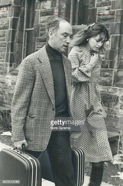 Back to business Liberal Leader Pierre Trudeau exchanges a few words with his press secretary Suzanne Perry as he hurries to his office in Ottawa to...