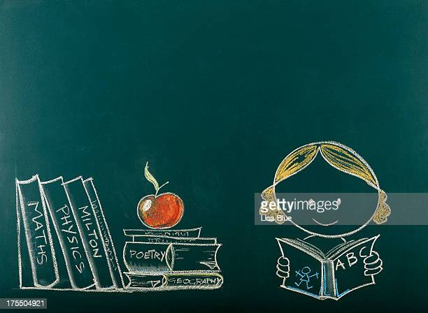 back to school concept on blackboard.copy space. - animation stock pictures, royalty-free photos & images