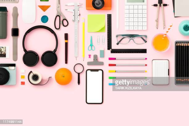 back to school flat lay - personal accessory stock pictures, royalty-free photos & images