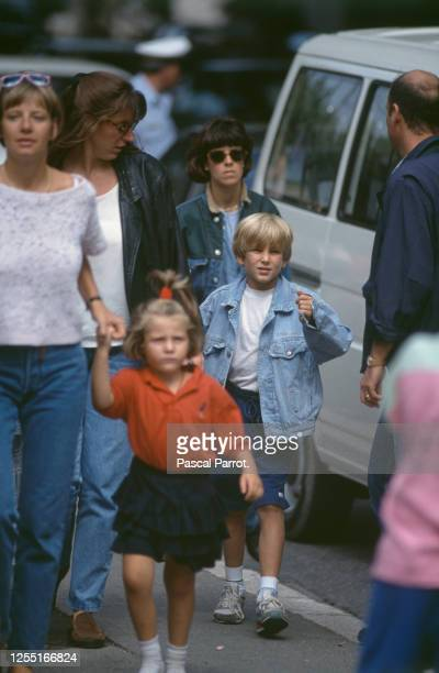 Back to school for Caroline of Monaco's children, Andréa and Charlotte.