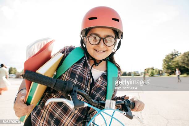 Back to school on bike