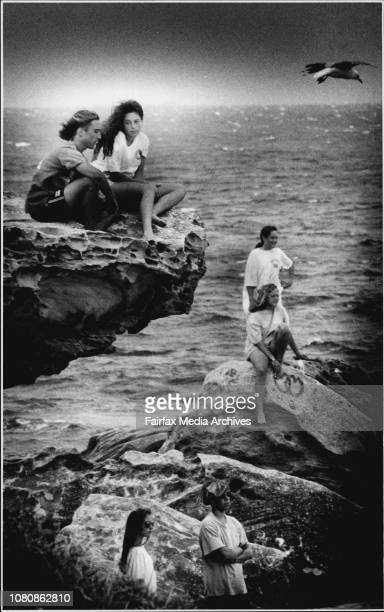 Back to School' On the cliffs at Maroubra Beach and waiting to go back school tomorrow are Matt Fitzgibbon and Dominique Abla Eden Baker and Amy...