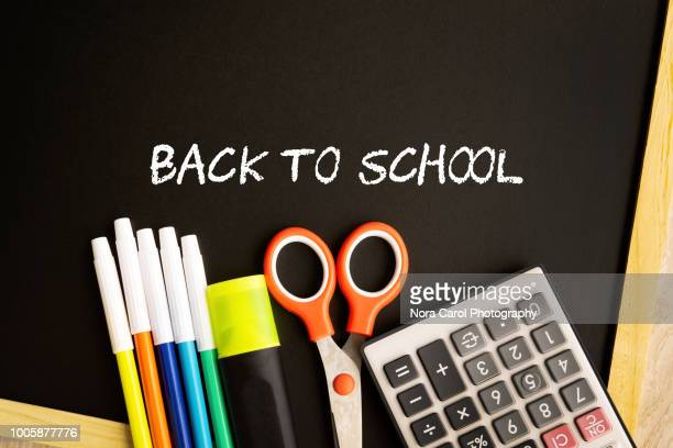 back to school - fun calculator stock photos and pictures