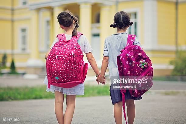 back to school - sister stock photos and pictures