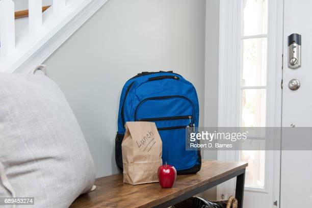 back to school - lunch bag stock pictures, royalty-free photos & images