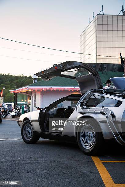 back to the future inspired delorean - bedford nova scotia stock pictures, royalty-free photos & images