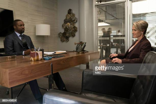 BLINDSPOT 'Back to the Grind' Episode 301 Pictured Rob Brown as Edgar Reade Mary Stuart Masterson as Director Hirst