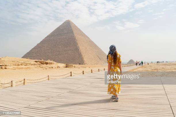 back to the time of pharaohs - pyramid stock pictures, royalty-free photos & images