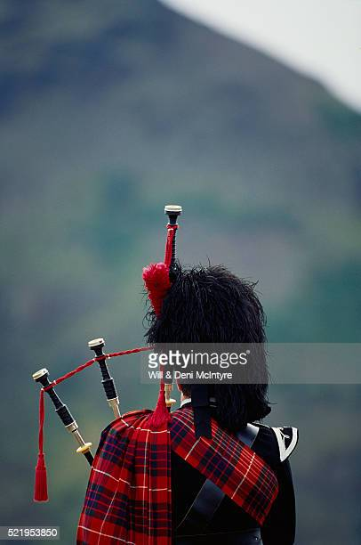 Back View of Bagpiper