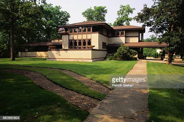 Back View of the Ward Willits House by Frank Lloyd Wright