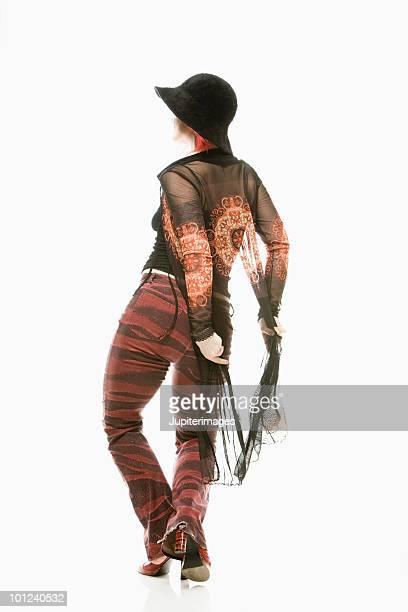 Back view of woman dancing