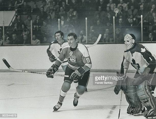 Back where he belongs Andy Bathgate now of the Pittsburgh Penguins is one of the most elegant players in the NHL which he will show this evening when...