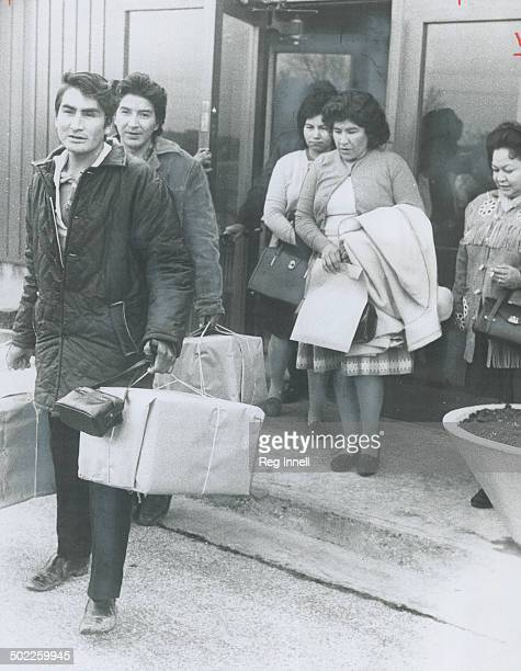 Back with their husbands are two Indian mothers from Kenora who had been illegally jailed since August Mrs Doris Henry and Mrs Agnes Land and...