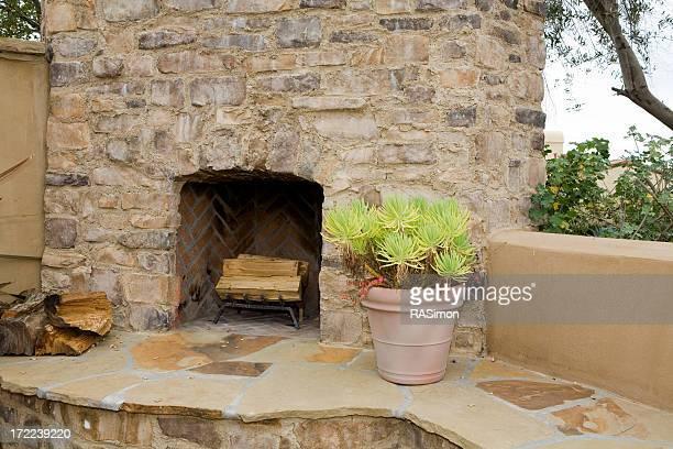 Back Yard Fireplace