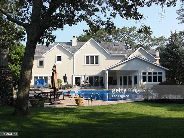 Back yard of large house