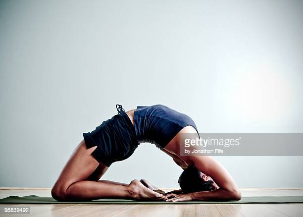backbend - yogi stock photos and pictures