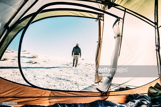 backcountry camping trip - open backpack stock pictures, royalty-free photos & images