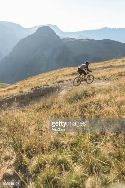 Backcountry mountain biking in Les Deux Alps