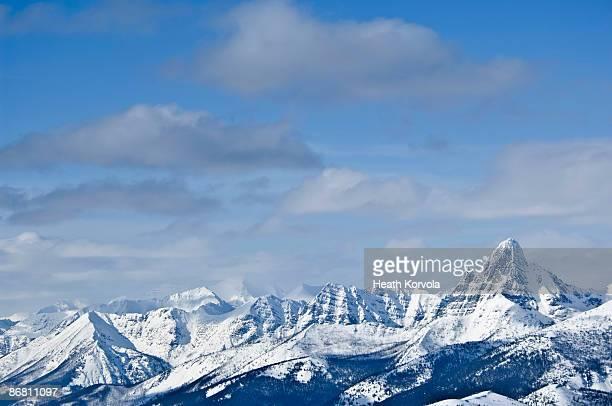 Backcountry ski traverse in Glacier National Park, MT.