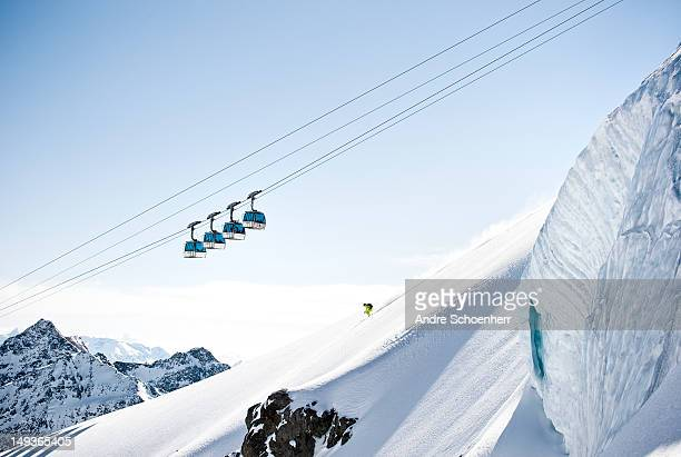 backcountry skiing - ski lift stock pictures, royalty-free photos & images