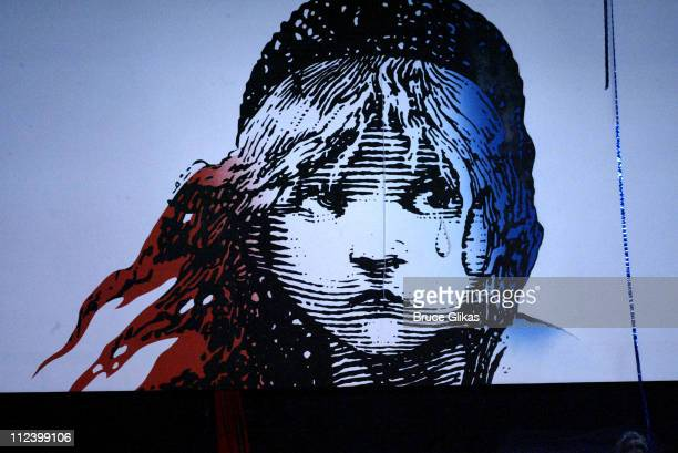 Backdrop at curtain call during The Final Performance of Broadway's LongRunning Tony AwardWinning Musical Les Miserables at The Imperial Theatre The...