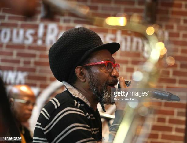 Backed by the band 'Conscious' Boston reggae artist Errol Strength performs during Sunday brunch at West End Johnnie's in Boston on Feb 24 2019 He is...